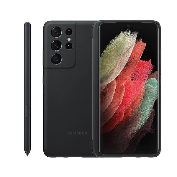【高飛網通】SAMSUNG Galaxy S21 Ultra 5G 原廠矽膠薄型背蓋黑_附S Pen 黑色 台灣公司貨 原廠盒裝