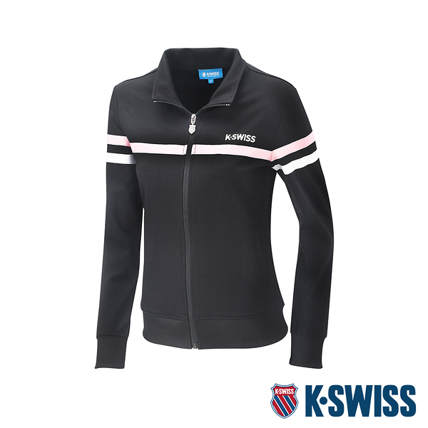 K-SWISS Mock Neck Jacket運動外套-女-黑