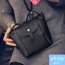 【P311】shiny藍格子-小包時尚.百搭個性三角立體軟皮單肩斜挎小包