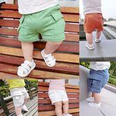 618好康鉅惠男童褲子夏季新款童裝女童口袋純色全棉