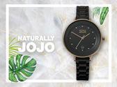【時間道】NATURALLY JOJO  都會簡約仕女腕錶 / 黑面玫瑰金殼黑陶(JO96926-88R)免運費