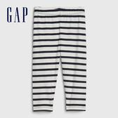 Gap女幼童 柔軟舒適條紋緊身褲 576782-海軍藍條紋