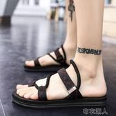 拖鞋男士2020新款夏季個性室外沙灘涼鞋男鞋韓版潮流時尚外穿涼拖 布衣潮人