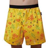 SOLIS-飛行船系列120-150印花四角男童褲(鵝黃色)