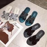 穆勒鞋 2020夏新款時尚百搭外穿涼拖鞋女ins網紅海邊平底一字沙灘鞋穆勒  艾維朵