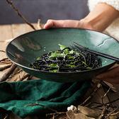 創意陶瓷碗水果沙拉碗西餐意面盤家用飯碗湯碗冷面碗大號湯盆    易家樂