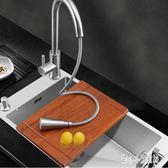 水槽 304不銹鋼手工水槽單槽 廚房家用手工洗菜盆加厚大小號單盆洗碗池 CP4460【甜心小妮童裝】