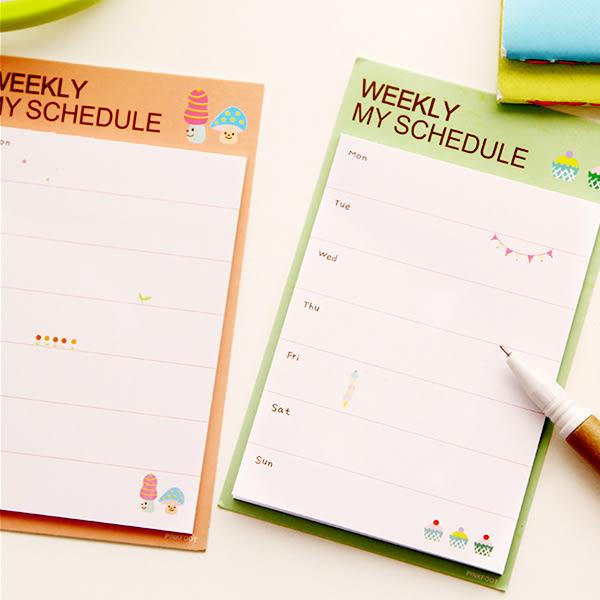 【BlueCat】Daily & Weekly 條列式6格 8格留言日週計劃便條紙 N次貼 便利貼