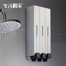 500ml典藏霧銀3孔給皂機 SHCJ生活采家 高端飯店浴室壁掛式 給皂液器 洗手液器47011
