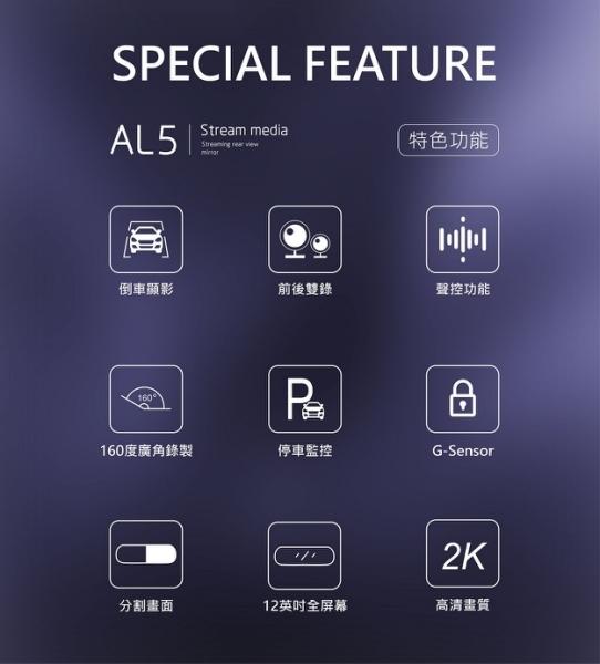 平廣 送GPS CORAL LM5 行車紀錄器 附32G 公司貨保1年 行車記錄器 12吋後視鏡型 倒車顯影 同AL5