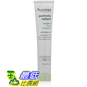 [美國直購] Aveeno 115746 Positively Radiant Targeted Tone Corrector 1.1 Ounce 容光煥發 修復