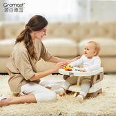 便攜式寶寶餐椅兒童餐桌椅子多功能嬰兒吃飯可折疊座椅HRYC 萬聖節禮物