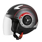 【東門城】ASTONE DJ11-SS11素色(平光黑/紅) 半罩式安全帽 內藏墨片