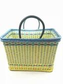 編織籃家用裝菜水果手提籃子包裝帶仿藤塑膠手工編制籃買菜收納筐購物籃雙12狂歡