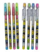 【卡漫城】 小小兵 彩虹筆 4支一組售 庫1 ㊣版 神偷奶爸 Minions 色鉛筆 彩虹筆 畫畫用具 美術 美勞