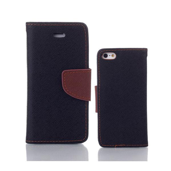 iPhone 6/6s 6+/6s+ 馬卡龍雙色手機皮套 撞色側掀支架式皮套 矽膠軟殼 桃綠黑多色可選