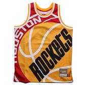 MITCHELL & NESS M&N 火箭隊 黃紅白 背心 BIG FACE 球衣 (布魯克林) MN20AJE01HR
