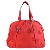 【南紡購物中心】agnes.b 大圓點立體B串珠旅行袋-紅