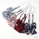 韓版職業襯衫日系格子學院風學生jk制服領結蝴蝶結領花女工裝配飾 怦然心動