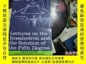 二手書博民逛書店Lectures罕見on the Icosahedron and