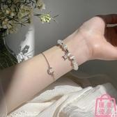 星月貓眼石手鏈女氣質小眾設計轉運珠手環閨蜜手飾品【匯美優品】
