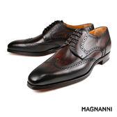 【MAGNANNI】經典德比紳士皮鞋 深咖(18761-MBR)