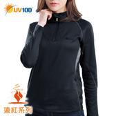 UV100 防曬 抗UV 遠紅-蓄熱保暖立領開襟上衣-女