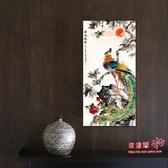 玄關畫 裝飾畫豎版鳳凰圖案招財風水現代簡約過道掛畫進門入門牆壁畫T 2色