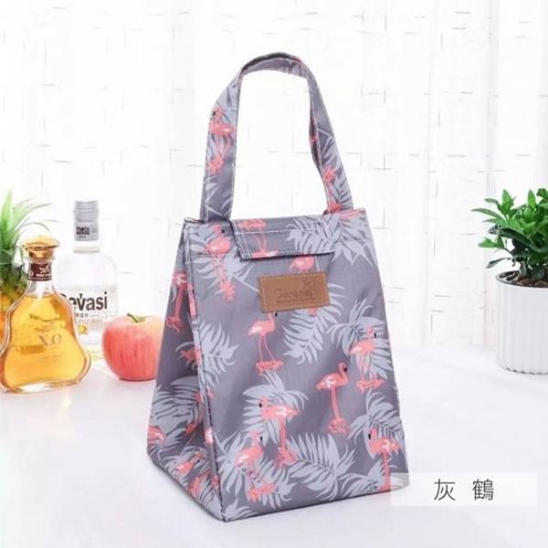 麋貳屋 造型時尚手提野餐袋-灰鶴
