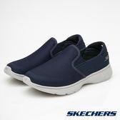 SKECHERS 男鞋 健走系列GO Walk 4 輕量 腳套健走鞋- 海軍藍 54171NVGY