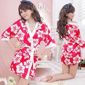 情趣用品 情趣睡衣 性感內衣 甜美嬌妻!柔緞和服睡袍組【530990】