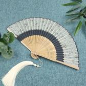 女式夏季真絲小折疊扇舞蹈扇