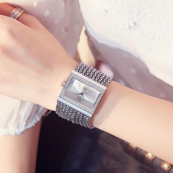 時尚手鏈錶方型鑲鑽 Cacaxi正品授權手鏈錶 (0588)