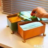 [空之喵喵]北歐ins創意貓爪口罩收納盒玄關大容量帶蓋防塵防污 創意新品
