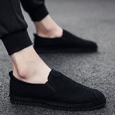 帆布鞋 2019新款夏季透氣男士布鞋一腳蹬男休閑