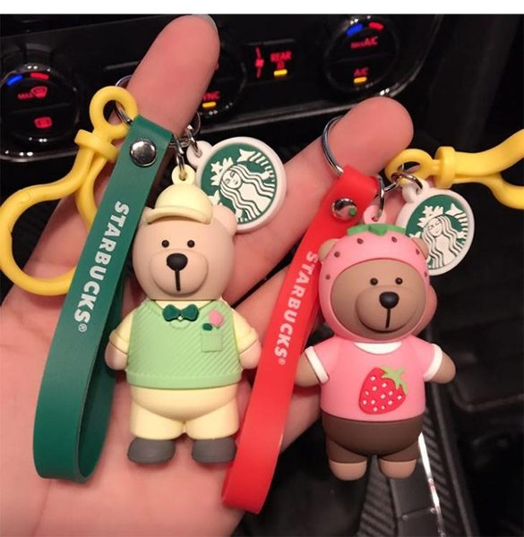 星巴克小熊鑰匙扣女韓國可愛創意情侶公仔包包掛件汽車鑰匙鍊圈環 【限時八八折】