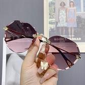 時尚太陽鏡女小臉太陽鏡女士防紫外線大臉顯瘦墨鏡女 韓美e站