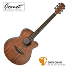 Comet C101M 40吋 全桃花心木 切角民謠吉他 附贈Pickx2、移調夾、背帶、吉他袋