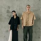 Queen Shop【01023941】雙口袋古巴領工裝襯衫 兩色售 1/2*現+預*