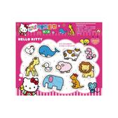 Hello Kitty可愛的動物嵌入拼圖