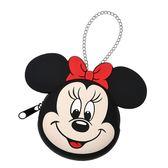 【京之物語】日本迪士尼米妮大臉隨身收納包 化妝包-預購商品