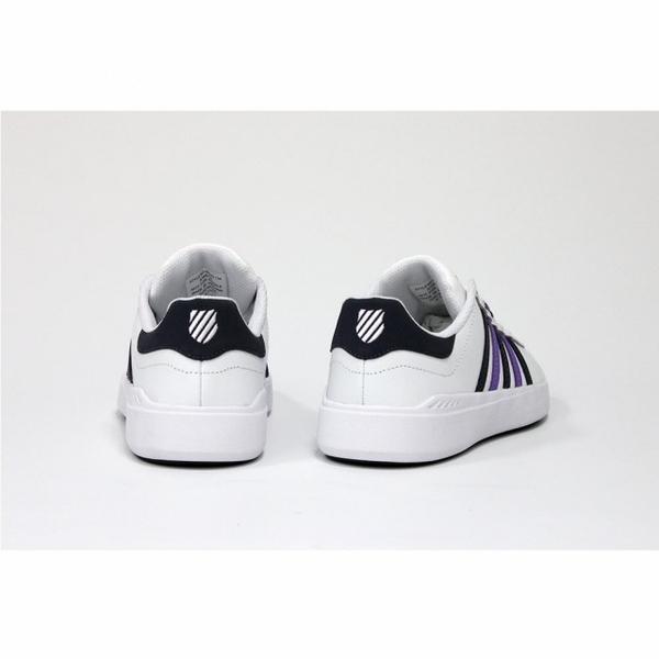 【K-SWISS】 Pershing Court 輕量時尚運動鞋-女-白/藍/紫(96095-134)