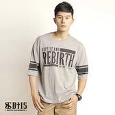 【BTIS】五分袖圓領T-shirt / 麻灰色