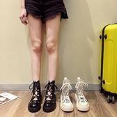 馬丁靴女夏季涼鞋薄款短靴百搭透氣英倫風厚底夏天鏤空涼靴ins潮