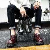 休閒皮鞋 夏季男鞋皮鞋韓版百搭社會小伙板鞋厚底男士增高潮鞋子 QG8059『樂愛居家館』