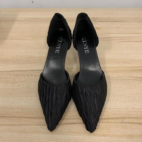 尖頭高跟鞋細跟性感工作鞋(36-39號/跟高6/121-6429)
