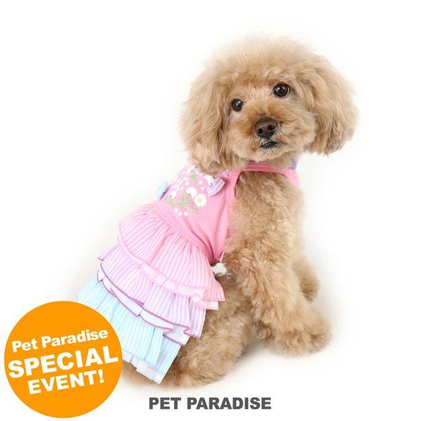 【PET PARADISE 寵物精品】Pretty Boutique 粉色條紋蛋糕裙 (SS/DS) 寵物用品 寵物衣服《SALE》