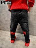 YAHOO618◮藍布坊童裝男童加絨牛仔褲冬裝2019新款兒童加厚褲子中大童長褲潮 韓趣優品☌