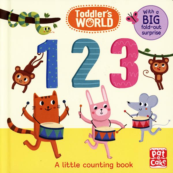 【幼兒認知書--數字】TODDLER'S WORLD : 1 2 3  /硬頁書