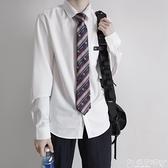 DK制服【刺篇】原創jk/dk制服日系基礎日常男款短袖襯衫黑白尖領襯衫 嬡孕哺 新品